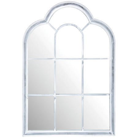 Roman Window Outdoor Mirror Grey