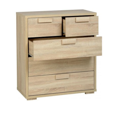 Seconique Cambourne 32 Drawer Chest - Sonoma Oak Effect Veneer