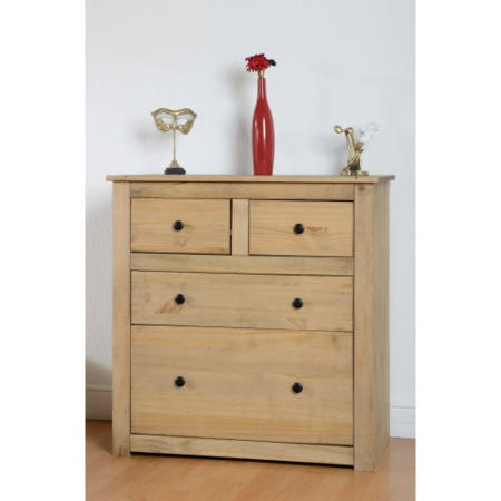 Seconique Panama 2 + 2 Chest of Drawers in Narural Wax