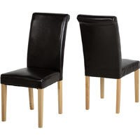 Seconique Dunoon Pair of Chairs in Expresso