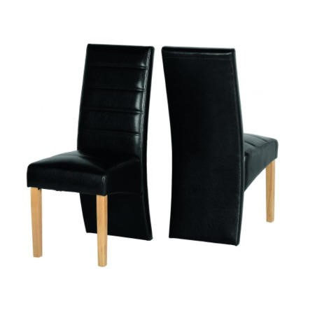 Seconique G5 Pair of Chairs - Black PU
