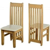Seconique Pair of Tortilla Cream Dining Chairs