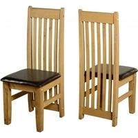 Seconique Pair of Tortilla Dining Chairs in Expresso Brown