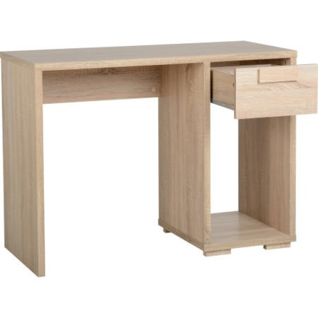 Cambourne Office Desk In Sonoma Oak - Seconique