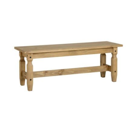 Seconique Corona 4' Distressed Waxed Pine Dining Bench