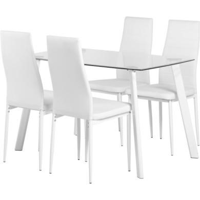 Seconique Abbey Dining Set In White