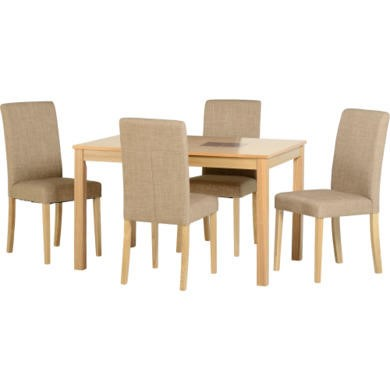 "Seconique Wexford 47"" Dining Set in Sand"