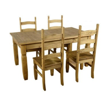 Seconique Corona Extending Dining Set 14 - Distressed Waxed Pine