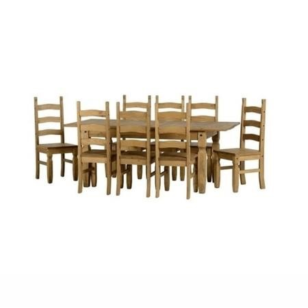 Seconique Corona Extending Dining Table Amp 8 Pine Dining