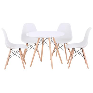 Seconique Tegan Dining Set in White