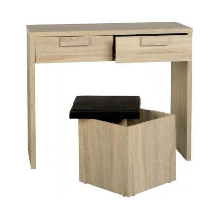 Seconique Cambourne Oak Effect 2 Drawer Dressing Table
