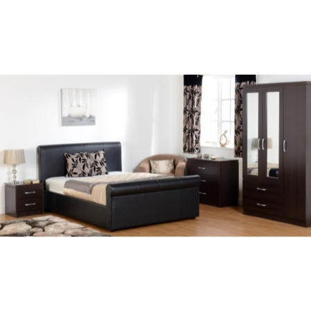 Seconique Franklyn Double Storage Bed Frame in Brown