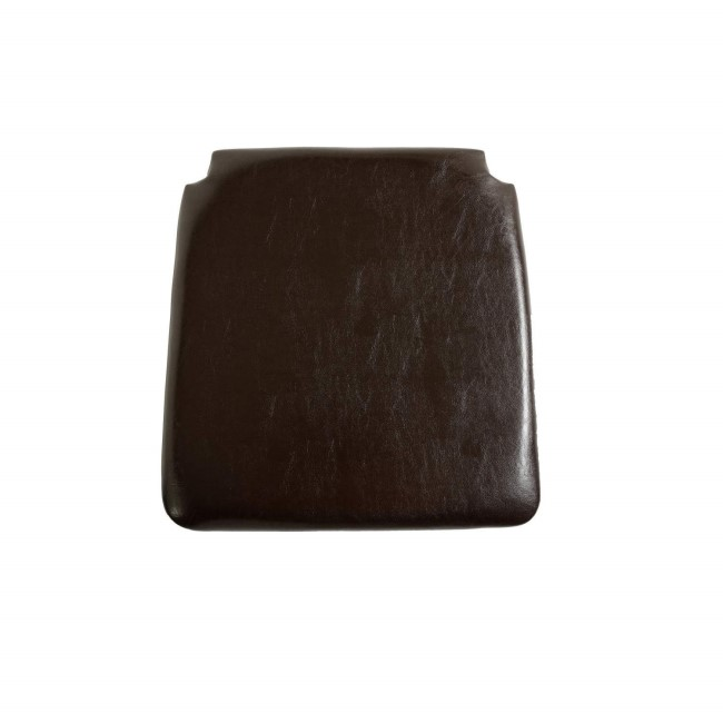 Seconique Faux Leather Seat Pad - Expresso Brown PU