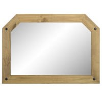 Seconique Corona Over Mantle Mirror in Distressed Waxed Pine