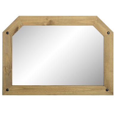 WHM104DWP Seconique Corona Over Mantle Mirror in Distressed Waxed Pine