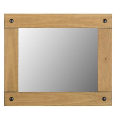 WHM107DWP Seconique Corona Medium Wall Mirror in Distressed Waxed Pine
