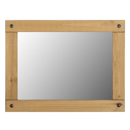 Seconique Corona Large Wall Mirror in Distressed Waxed Pine