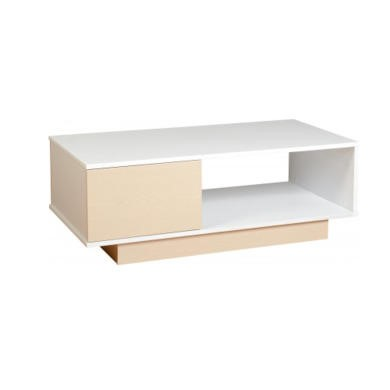 Seconique Fusion Coffee Table - Ivory Maple/White High Gloss