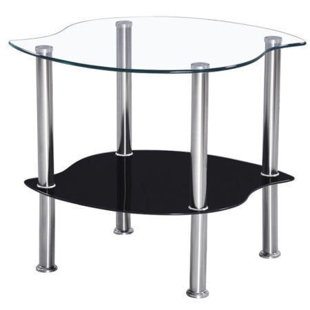Seconique Colby Clear Lamp Table