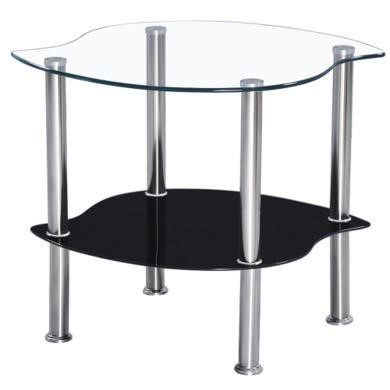 Seconique Colby Black Lamp Table