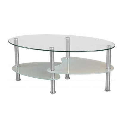 Seconique Cara Frosted Glass Coffee Table