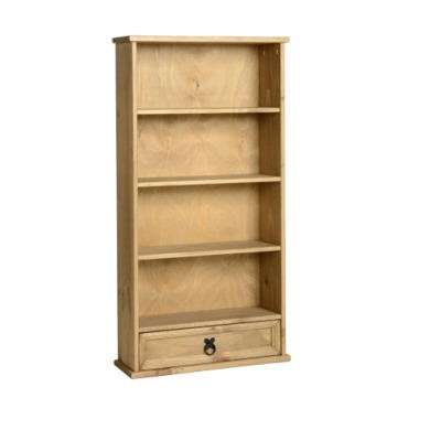 WHOC902DWP Seconique Corona 1 Drawer DVD Rack - Distressed Waxed Pine