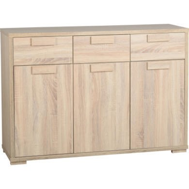 Seconique Cambourne 3 Door 3 Drawer Sideboardin Sonama Oak