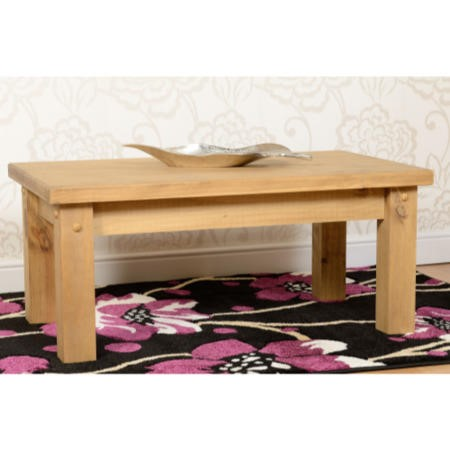 Seconique Tortilla Coffee Table Distressed Wax Pine