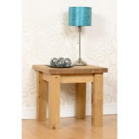 Seconique Tortilla Lamp Table in Distressed Wax Pine