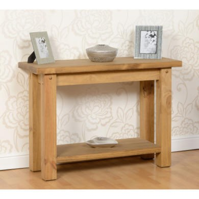 Seconique Tortilla Console Table in Pine