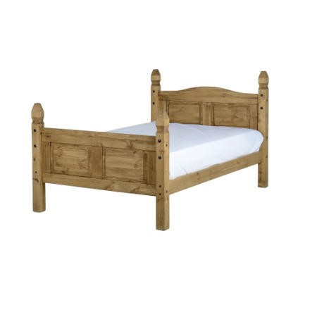 Seconique Corona Mexican 4' Bed - Distressed Waxed Pine