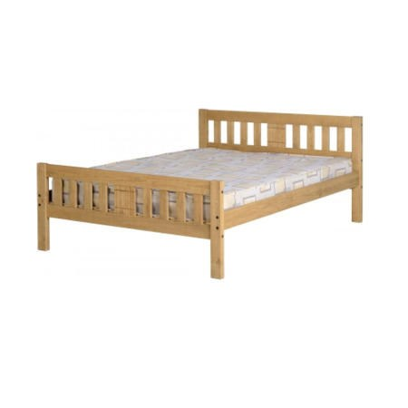 Seconique Rio Double Bed Frame in Distressed Waxed Pine
