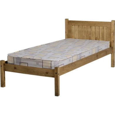 WHPB308DWP Seconique Maya 3' Bed - Distressed Waxed Pine