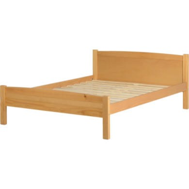Seconique Amber Double Bed Frame in Antique Pine