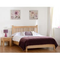 Seconique Stratford Double Bed with  Low Foot End in Solid Oak