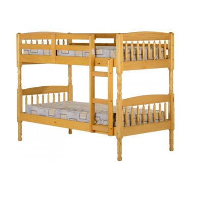 Seconique albany 3 39 bunk bed antique pine jaxworks for Furniture 123