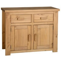 Seconique Tortilla 2 Door 2 Drawer Sideboard in Distressed Waxed Pine