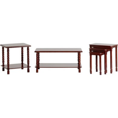 Seconique Brunton Occasional Set In Mahogany