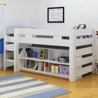 Seconique lollipop mid sleeper bed in white furniture123 for Furniture 123 cabin bed