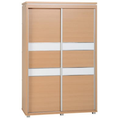 WHW138BWT Seconique Julia 2 Door Sliding Wardrobe in Beech and White