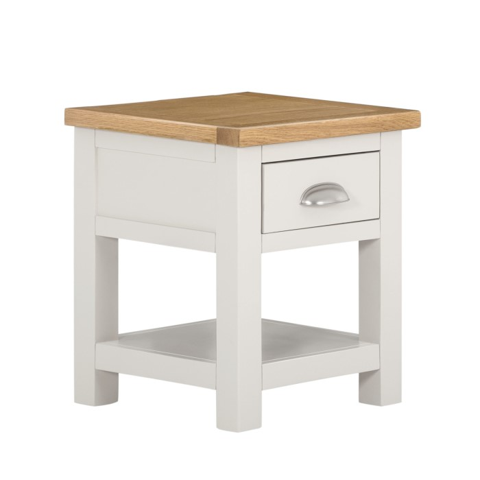 Willow 1 drawer lamp table in cream and light oak furniture123 willow 1 drawer lamp table in cream and light oak aloadofball Choice Image