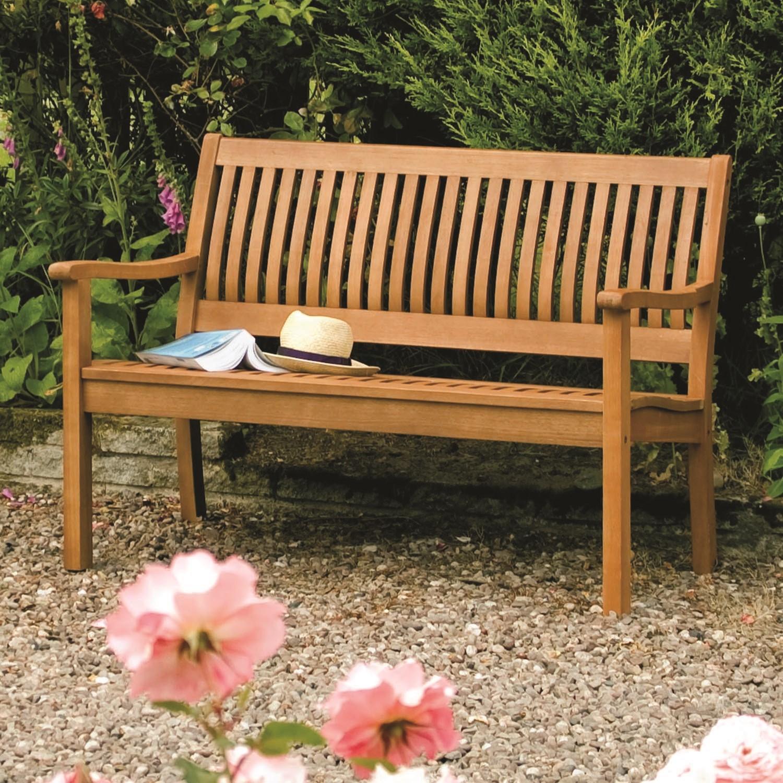 Rowlinson Wooden Garden Bench - Seats 2 - Willington