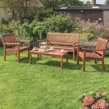 Rowlinson Wooden Garden Coffee Set - Willington