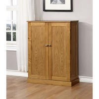 Windsor Solid Oak Shoe Cabinet - 15 Pairs
