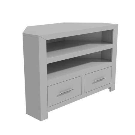 "Painted Grey Wooden Corner TV Unit - TV up to 36""- Windsor"