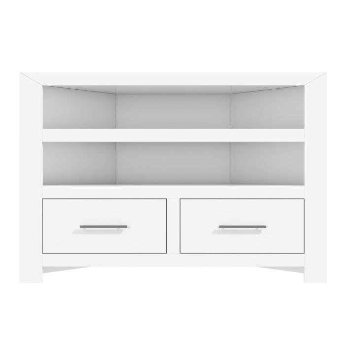 Windsor Painted White Solid Wood Corner Tv Unit Furniture123