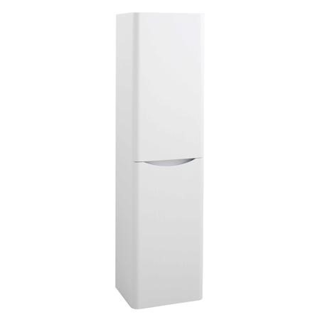 White Wall Hung Tall Bathroom Storage Cabinet - 400mm Wide - Oakland