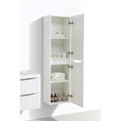 White Wall Hung Tall Bathroom Storage Cabinet - 400mm Wide  sc 1 st  Furniture 123 & White Wall Hung Tall Bathroom Storage Cabinet - 400mm Wide ...