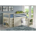WND004 Windermere Mid Sleeper in Soft White with Pull Out Desk
