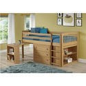 WND005A Windermere Solid Pine Mid Sleeper with Pull Out Desk